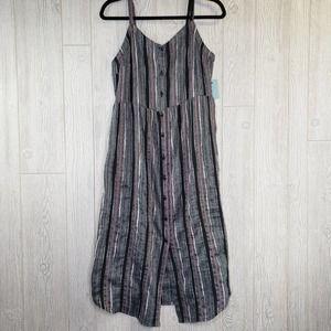 Susina Textured Stripe Midi Dress Womens Medium